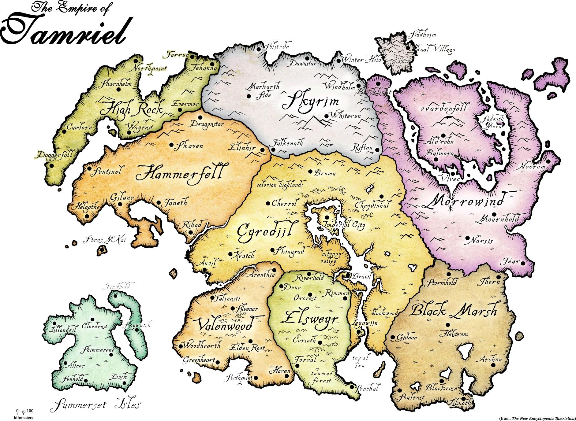 Maps Nirn