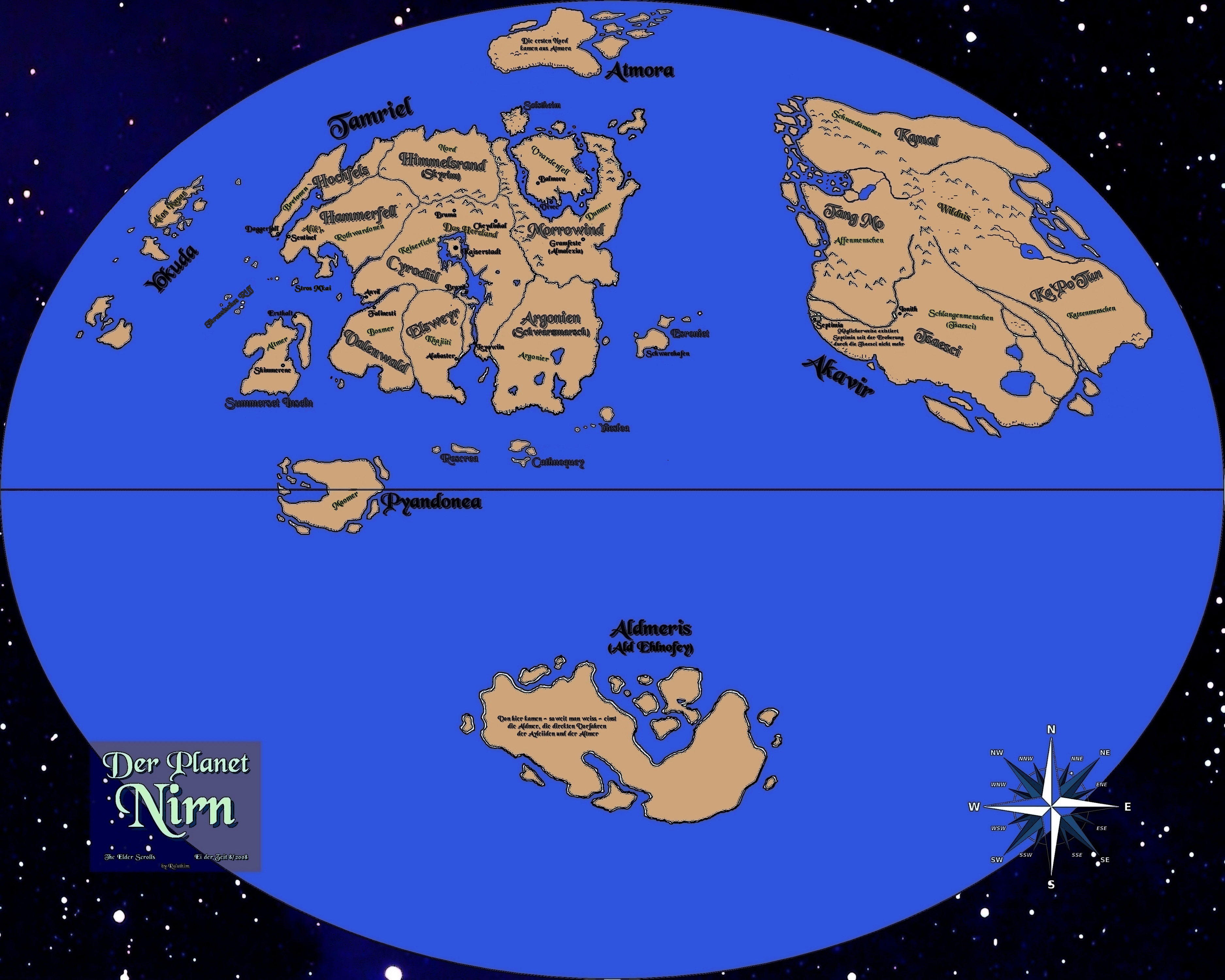 Map of Nirn, is there ever any interaction between Tamriel and the ...